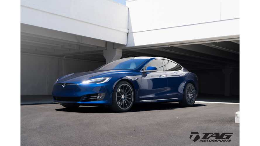 Tesla Model S Gets Aftermarket HRE Classic 303M Wheels