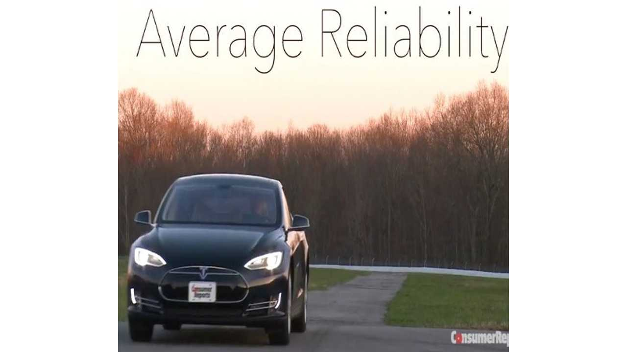 Consumer Reports On Tesla Model S' Average Reliability Rating - Video