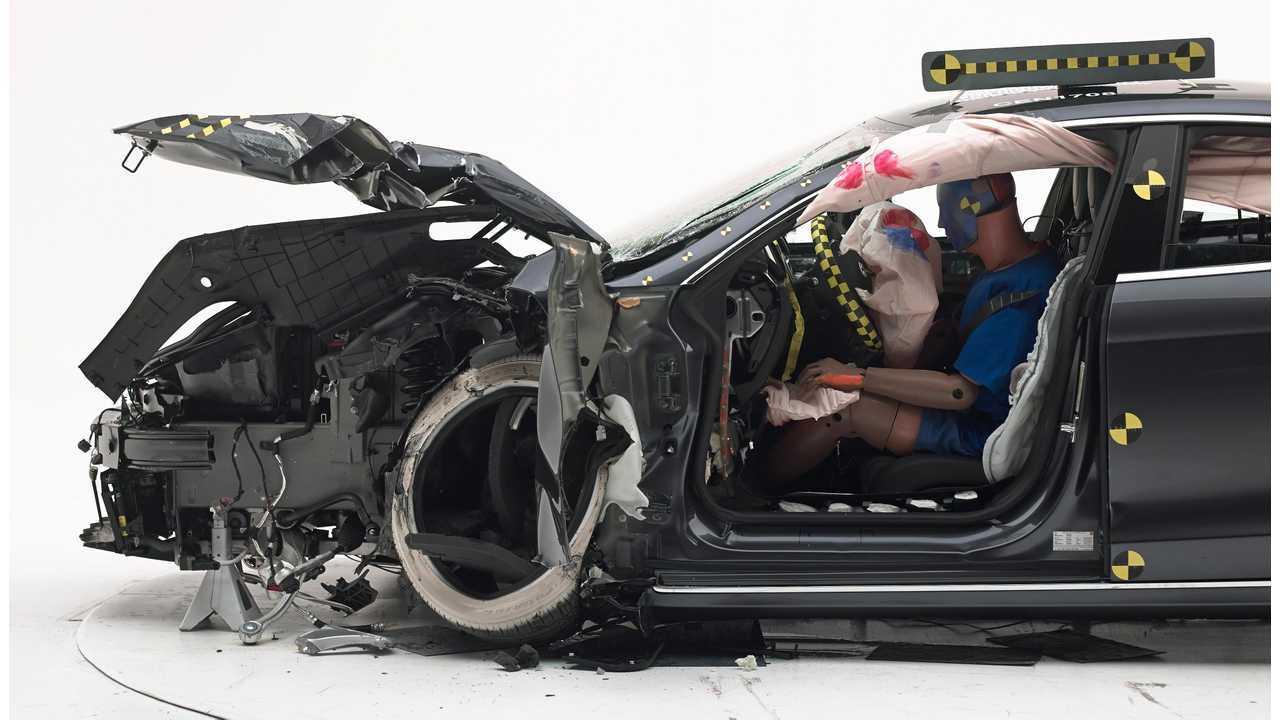 Crashed Tesla Model S
