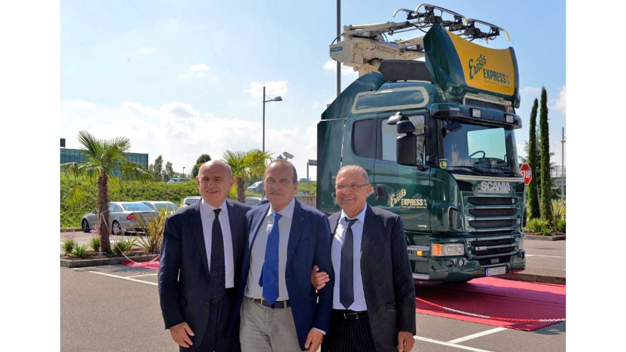 Italy To Start Electric Road Trials With Backing From Scania, Siemens