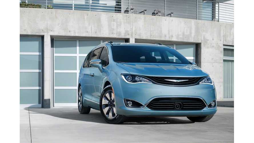 Chrysler Pacifica Hybrid:  Plug-In Minivan With 30 Miles Range, 80 MPGe