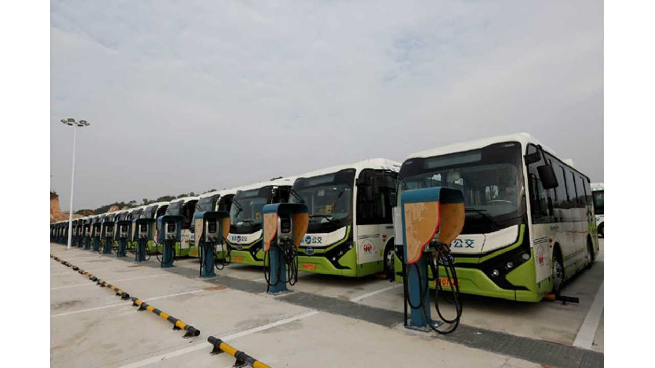 BYD Delivers 300 Electric Buses To Shanwei City, China