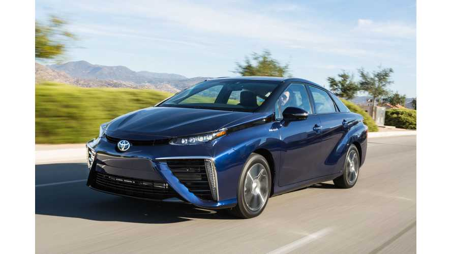 Toyota Mirai Gets EPA Rated At 67 MPGe, 312 Miles Of Total Range
