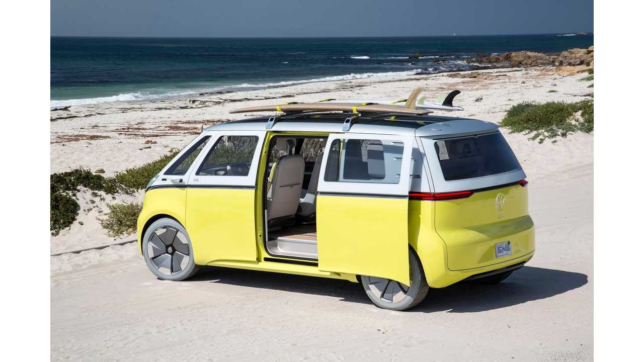 Volkswagen I.D. BUZZ in Pebble Beach. Ready to hit the waves ...
