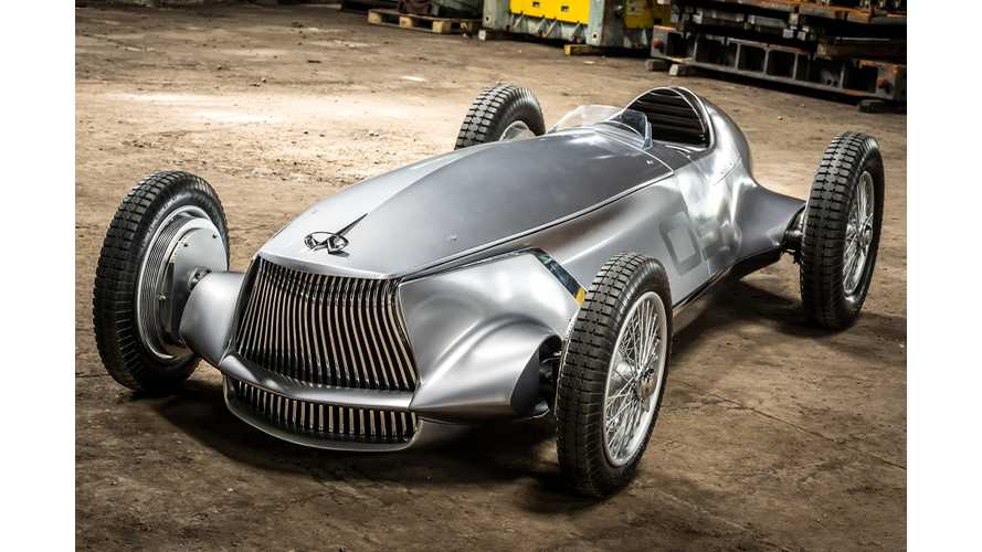 Infiniti Prototype 9 EV Is Past Meets Present, Plus Some Next-Gen LEAF