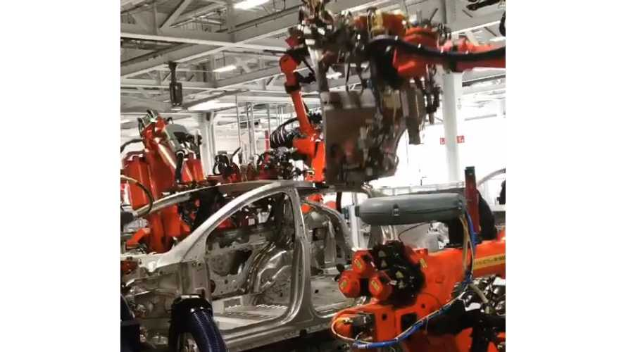 Watch Tesla Model X Falcon Doors Get Attached At Factory