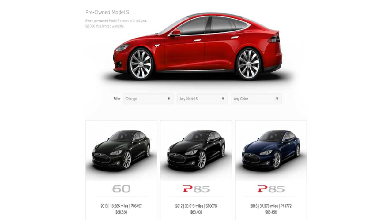 Tesla Launches Certified Pre-Owned Program