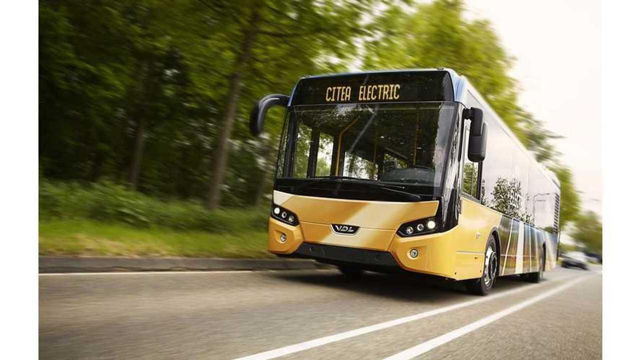 VDL Bus Deliver Electric Citea Bus With Heliox CCS 700 Volt Fast Charger