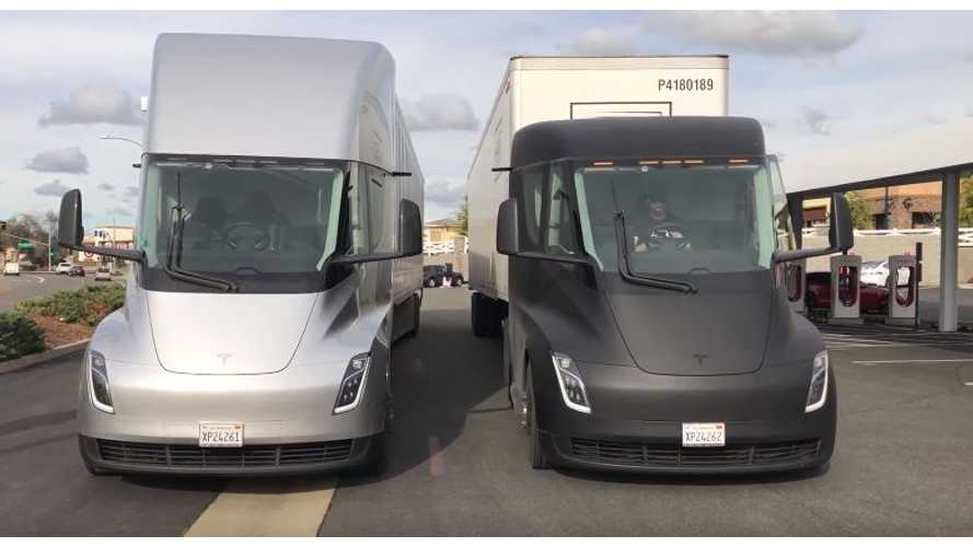 Tesla Semi Juices Up From 5 Superchargers At Same Time: Video