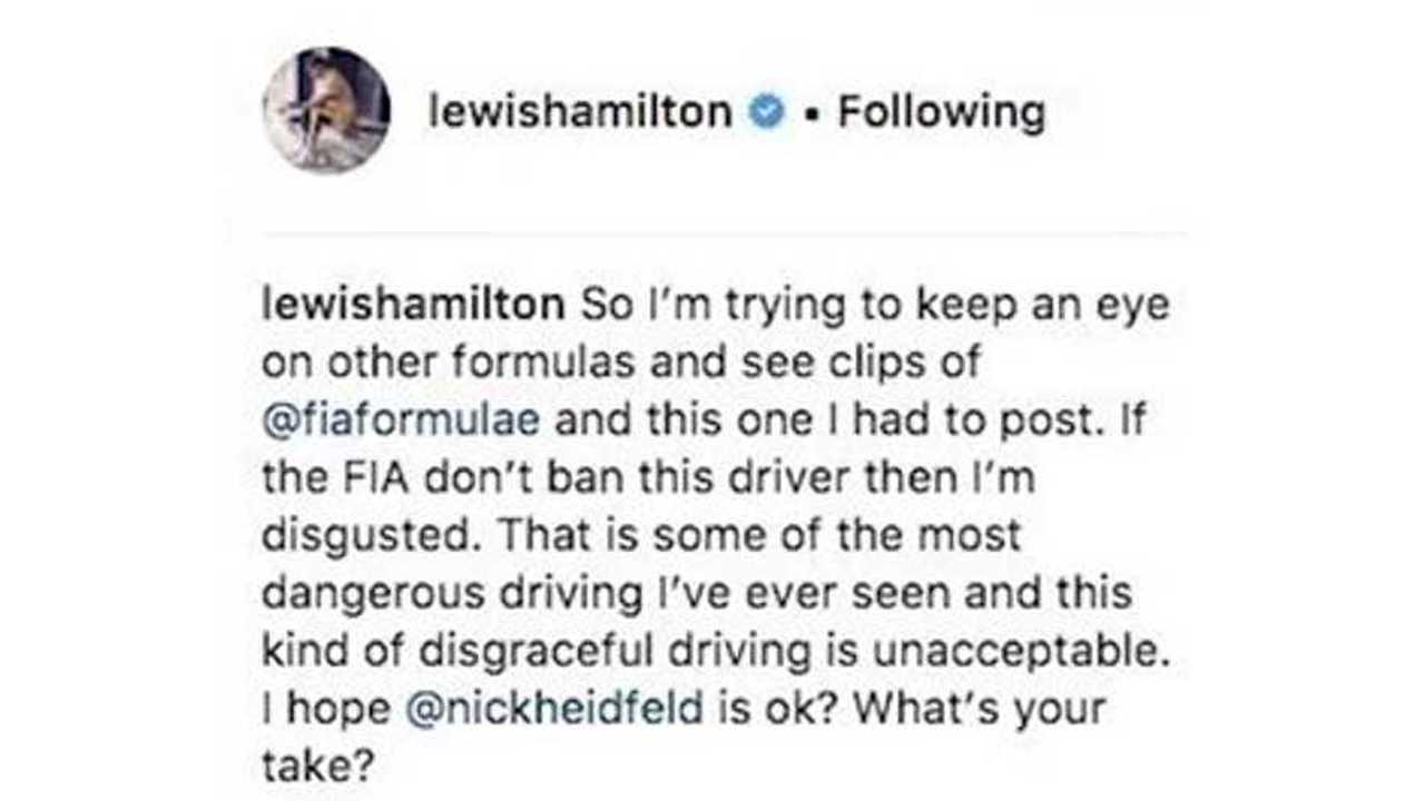 Lewis Hamilton Finally Watches Formula E First Season - Hello 2014