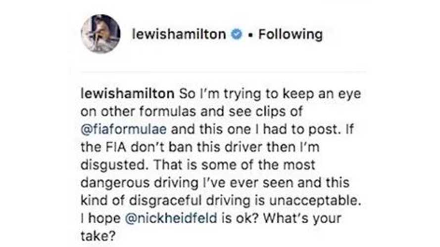 Lewis Hamilton Finally Watches Formula E First Season - Hello 2014