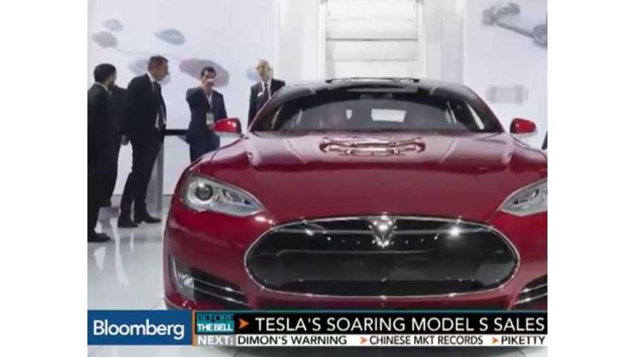 Bloomberg Reports On Soaring Tesla Model S Sales - Video
