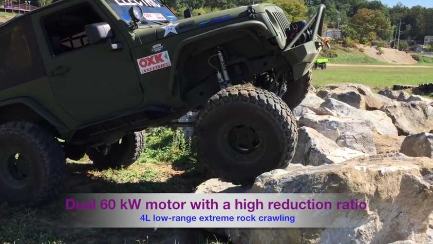 Electric Jeep Wranglers Put Off-Roading Petrol Counterparts In Their Place - Video