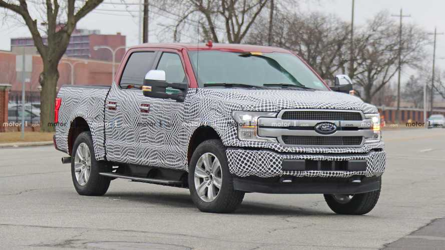 Ford F-150 Electric Pickup Truck Spotted In Swirly Camo