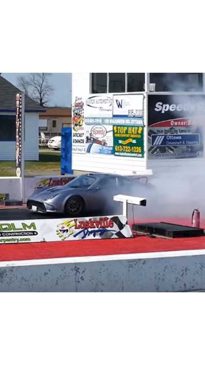 Tesla-Powered 818 Rips Down 1/4-Mile In 9 Seconds - Video