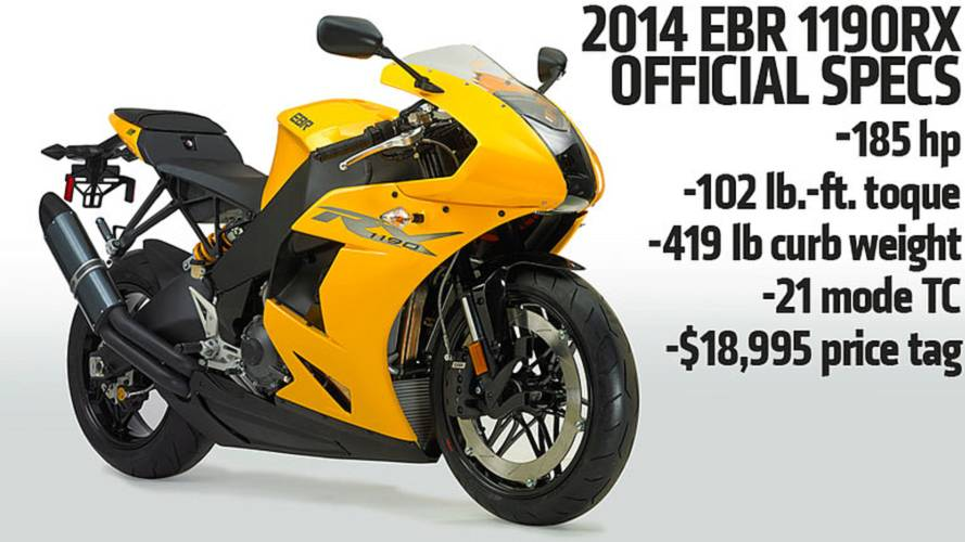 First Photos and Specs: 2014 EBR 1190RX — AimExpo 2013