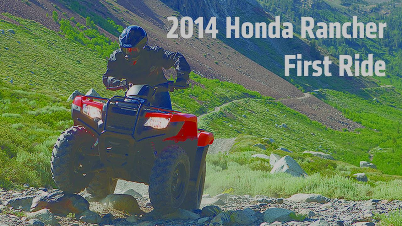 2014 Honda Rancher — First Ride Review