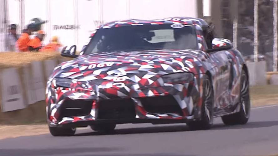 Watch 2019 Toyota Supra make dynamic debut at Goodwood