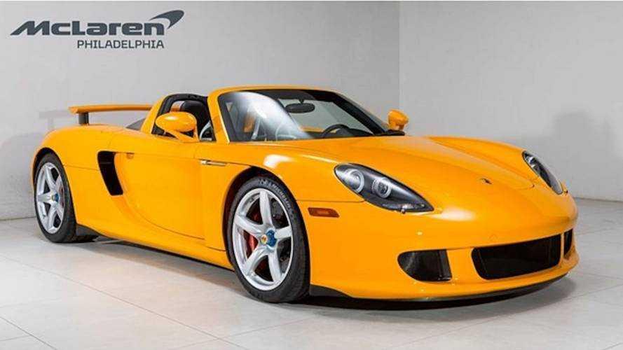 En venta este raro Porsche Carrera GT amarillo