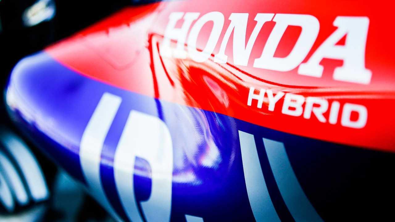 Logotipo da Honda na Toro Rosso STR13 Honda