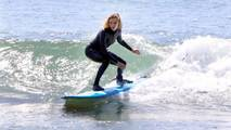 Margot at the surfing