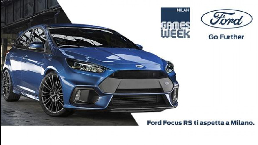 Ford Focus RS, alla Games Week si guida responsabilmente [VIDEO]