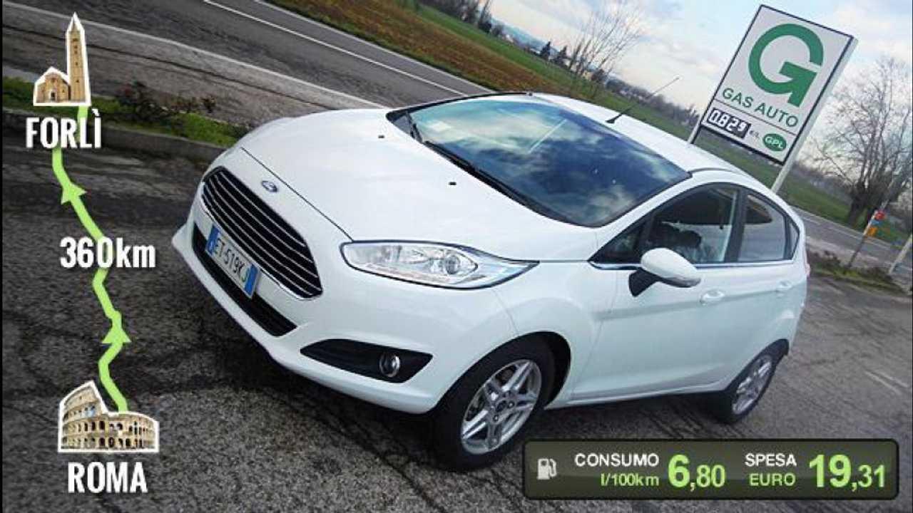 [Copertina] - Ford Fiesta 1.4 GPL, la prova dei consumi