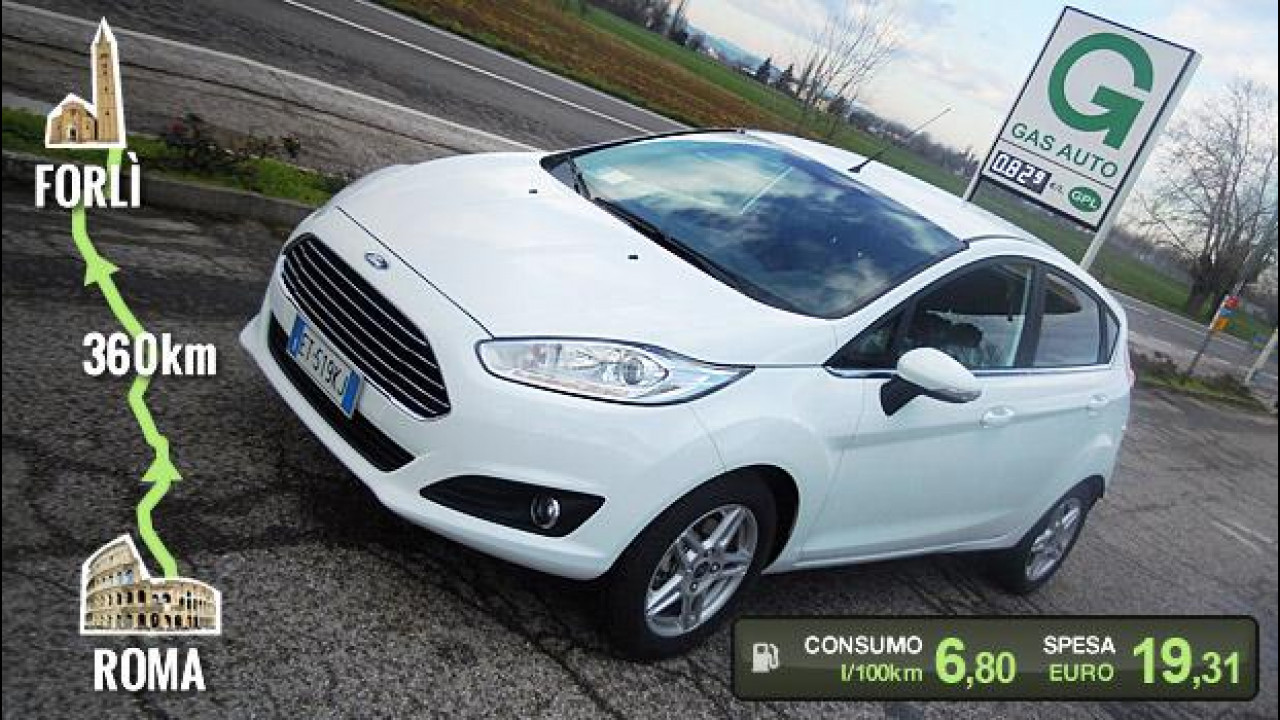 Prova Ford Fiesta 1.4 16V GPL Plus 5 porte - lucios