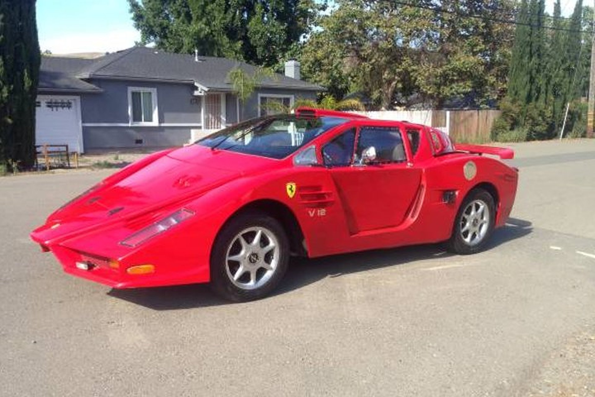 This Fiero,Based Ferrari Kit Car is of Questionable Quality
