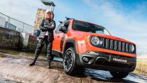 Jeep Renegade drives white water rafting course