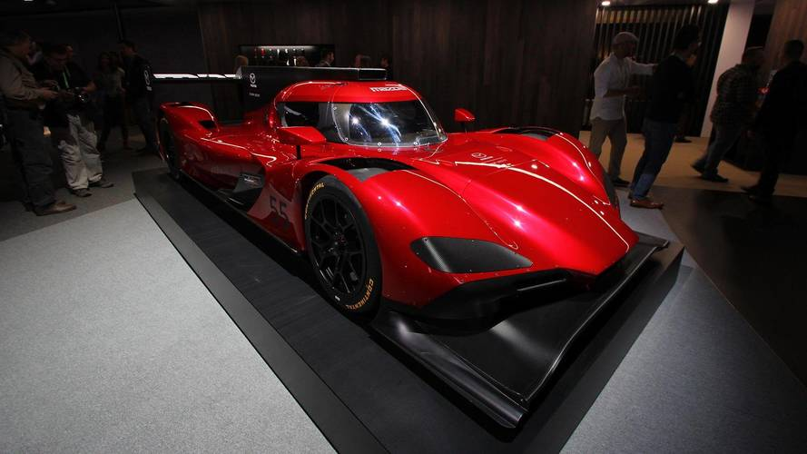 Mazda's Updated RT-24P Racecar Wears Ravishing Red In LA