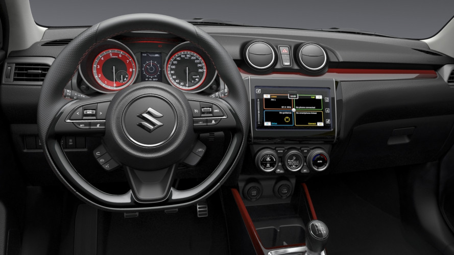 Nuova Suzuki Swift Sport, svelata anche dentro [VIDEO]
