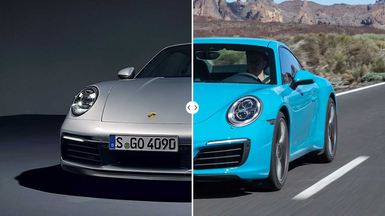 Porsche 911 Carrera (992) vs. Porsche 911 (991 II) Side-by-Side