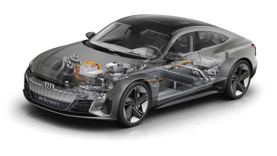 Cutaways Compare Audi E-Tron GT To Porsche Taycan