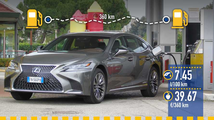 Lexus LS Hybrid, la prova dei consumi reali