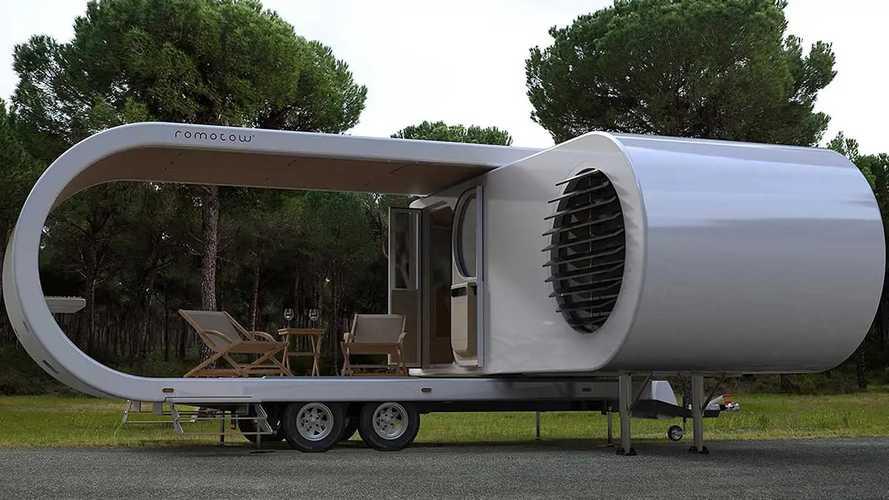 Romotow adlı karavan, işi bittiğinde katlanıp küçülebiliyor