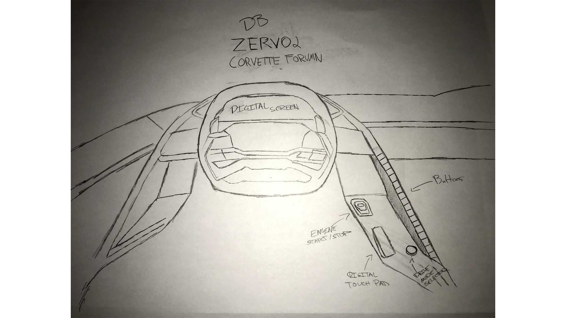 Mid Engined Corvette Interior Imagined In Fan Rendering Engine Diagram