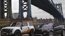 Land Rover DC100 Expedition and Range Rover Evoque Cabrio concepts in New York, 500,