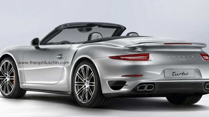 Porsche 911 Turbo Cabrio rendered