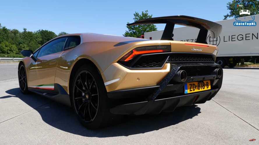 Lamborghini Huracan Performante Sounds Delicious In Acceleration Runs