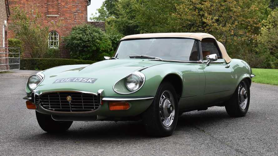 This is Kevin Keegan's restored E-Type