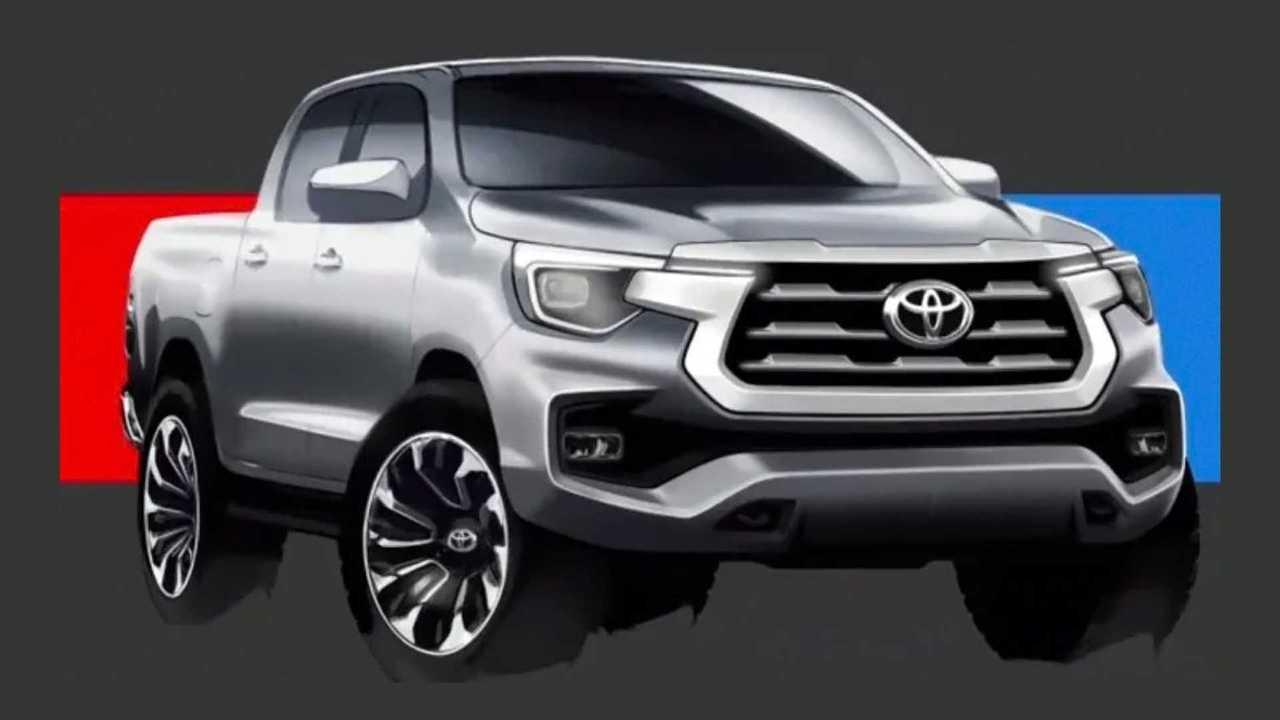 Toyota Hilux 2021 - Desenhos rejeitados