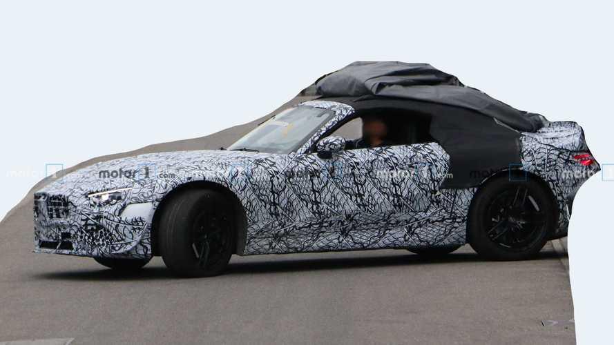 2022 Mercedes SL Spied Looking Sleek Despite Heavy Camo