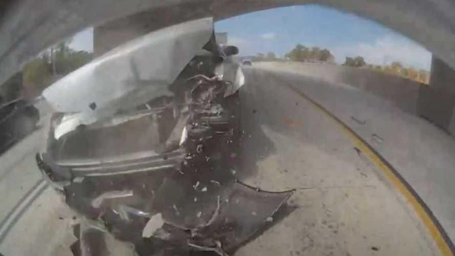 Watch A Chrysler Smash Into Rear Of A Tesla: TeslaCam Captures Violent Wreck