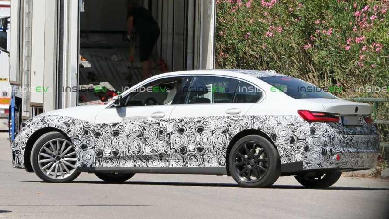 BMW 3 Series EV rear three-quarter view