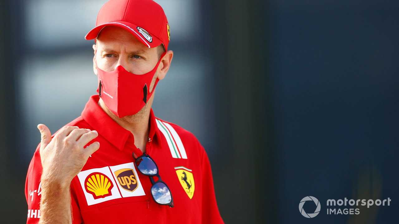 Sebastian Vettel at 70th Anniv British GP 2020