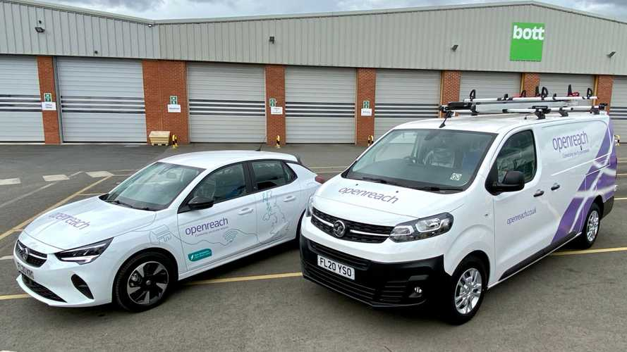 Openreach goes green with 270 Vauxhall Vivaro-e vans