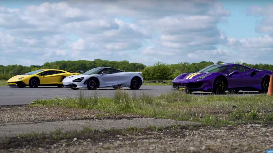 Watch McLaren 720S dominate over 488 Pista, Aventador SV in drag race