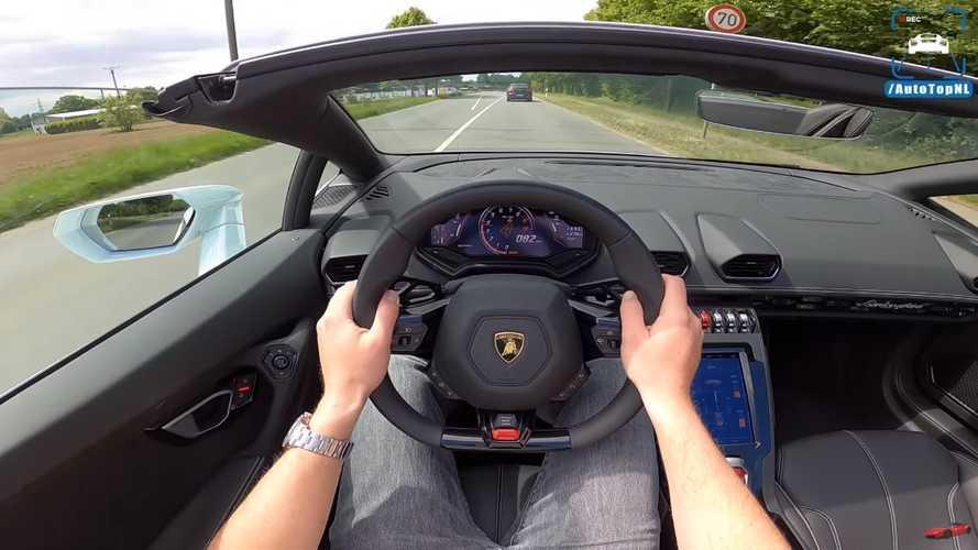 VIDÉO - Balade en Lamborghini Huracan EVO Spyder