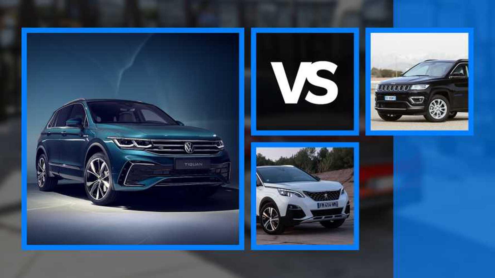 VW Tiguan vs Peugeot 3008 vs Jeep Compass, match chez les SUV compacts